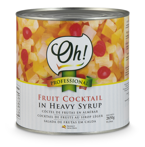 Fruit Cocktail in heavy syrup