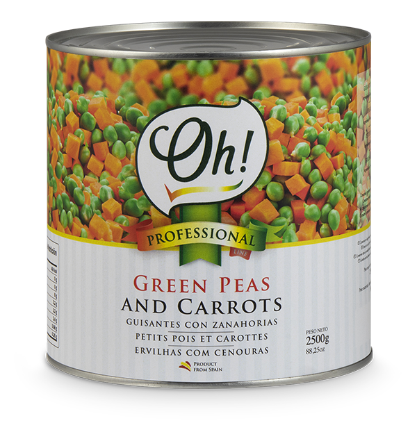 Green peas and carrots